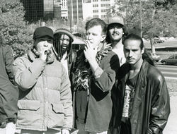 Gorman (center) with Dominic Mestas (far right) circa 1994.