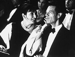 Business and pleasure: Anjelica Huston and Mick Jagger in The Man From Elysian Fields.