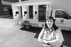 Van driver Alison Givens sees the same clients over and over.