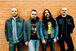 Reach out and Torche someone: Jonathan Nunez (from left), Rick Smith, Juan Montoya and Steve Brooks.