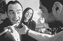 Daniel MacIvor and Mary-Louise Parker taste the passion of Marco Leonardi.