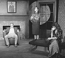 Kurt Brighton, Denise Perry-Olson and Mare  Trevathan Philpott in Old Times.