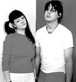 Hope you guess their name: Meg and Jack of the White Stripes.
