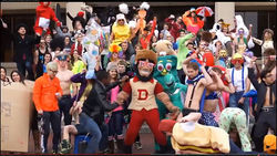 Denver Boone shakes his way through this DU Harlem Shake video on YouTube.