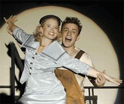 Michelle Merz and Zander Meisner shine in Urinetown.