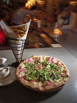 Viva Via! James Mazzio makes the town's best fries and great pizzas at Via.