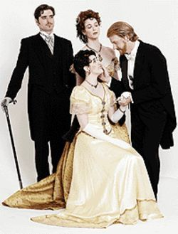 Eric W. Corneliuson (clockwise from left), Brenna  Freestone, Brian Hughes and J. Brooke McQueen in  An Ideal Husband.