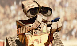 A little robot looks for love in WALL-E.