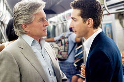 Michael Douglas and Shia LaBeouf star in Wall Street: Money Never Sleeps.