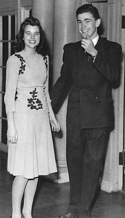 Jim Sunderland and Sheila Curry on a date in 1943.
