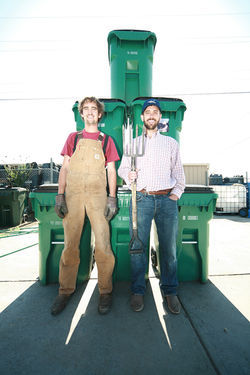 Matthew Celesta and John-Paul Maxfield are farming for the future as Waste Farmers.
