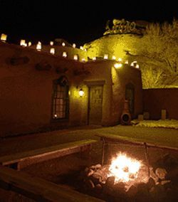 Night vision: At the Fort, both the menu and the  surroundings reflect the Old West.