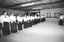 Denver's dojo in its early days.