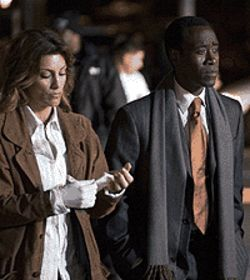 Bumper crop: Jennifer Esposito and Don Cheadle try  to make sense of senselessness in Crash.