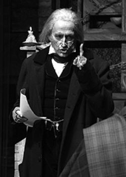 Randy Moore as Scrooge in the Denver Center's A  Christmas Carol.