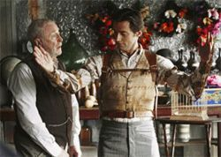 Michael Caine and Hugh Jackman in The Prestige. 