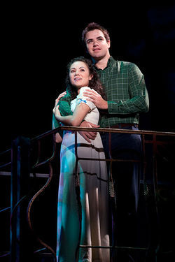 Evy Ortiz and Ross Lekites in  West Side Story.