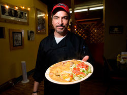 Chris Gonzales is pleased to meat you at Westerkamps Steakhouse. More photos from Westerkamps.