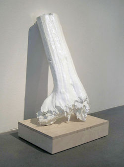 &quot;Torso,&quot; by John McEnroe, cast resin.