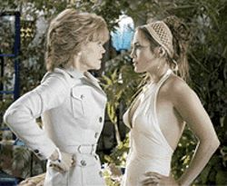How Lo: Jane Fonda and Jennifer Lopez get hissy in  Monster-in-Law.