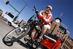 Greg Duran plans to offer city tours with his new company, Colorado Rickshaw.