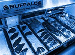 Making a killing: A display of bison by-products at the Denver Buffalo Company.