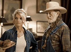 Free Willie: Jessica Simpson and Willie Nelson in  The Dukes of Hazzard.