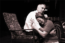 Sam Gregory and Martha Harmon Pardee in Who's Afraid of Virginia Woolf?