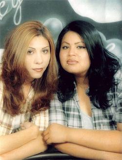 Angie Zapata and Rochelle Camacho.