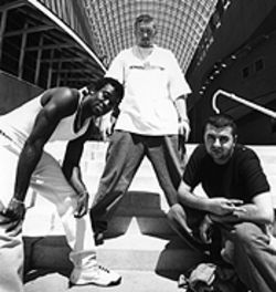 Shot to the heart of hip-hop: Errol Anderson, Brock Roulier and Spiro Korosis of Soloshot Records.