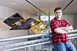 Eric Hackathorn manages the National Oceanic and Atmospheric Administration's virtual-world program.
