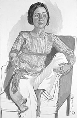"""Dianne Vanderlip,"" by Alice Neel, oil on canvas."
