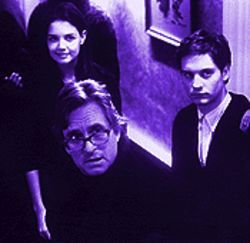 Get me rewrite!: Katie Holmes, Michael Douglas and Tobey Maguire in Wonder Boys.