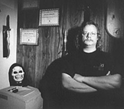 The basement tapes: Barry McDonald in his basement dedicated to all things creepy.