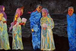 """Ceremony (The Birthday of Million Tear Drops No. 5),"" by Xi Zhang, acrylic on canvas."