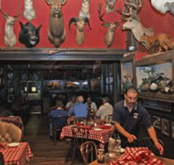 Animal attraction: The Buckhorn Exchange features  critters on the wall as well as on your plate.