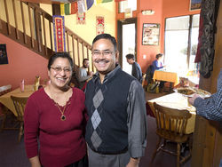 Ratna and Macchendra Shrestha keep the buffet filled with food — and Nepal Cuisine filled with customers.