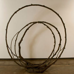&quot;Colorado Loop #5,&quot; by Yoshitomo Saito, cast and welded bronze.