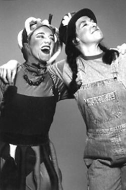 Hilary Blair and Annie Butler in Tomato Plant Girl.